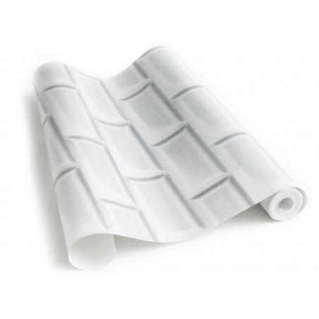 Papier peint marbre blanc gris for Papier peint carrelage metro