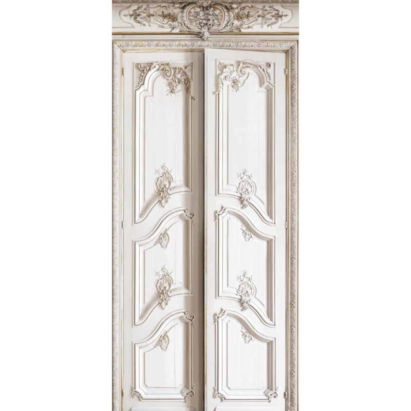 Rev tement mural en velours doubles portes grandes - Portes haussmanniennes ...