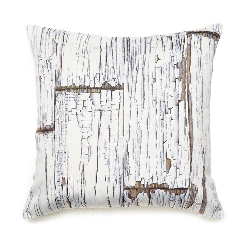 coussin planches de bois vintage. Black Bedroom Furniture Sets. Home Design Ideas