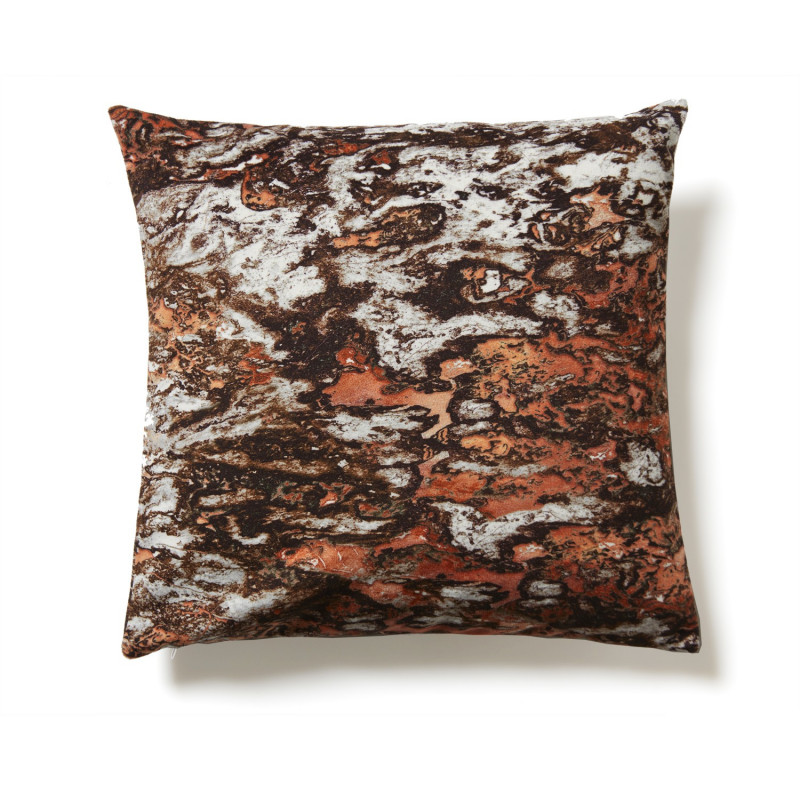 coussin marbre sarrancolin chocolat et cuivre recto et verso. Black Bedroom Furniture Sets. Home Design Ideas