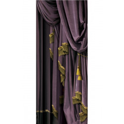 Velvet decor Right purple drapes - outlet