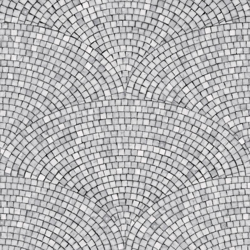 Sample Art Deco Mosaic Wallpaper Dark Grey