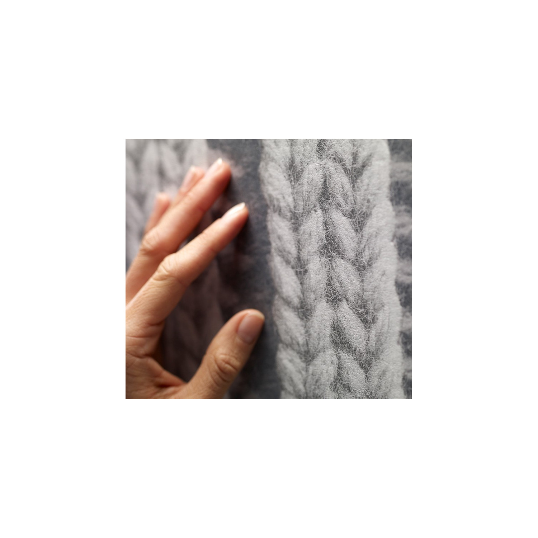 Grey Knitting Wallpaper