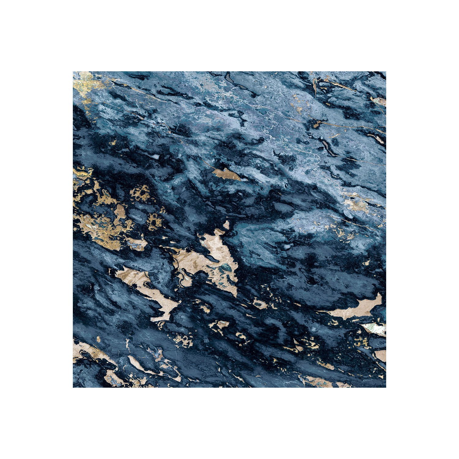 Navy Blue Beige Sarrancolin Marble Panoramic Wall Murals