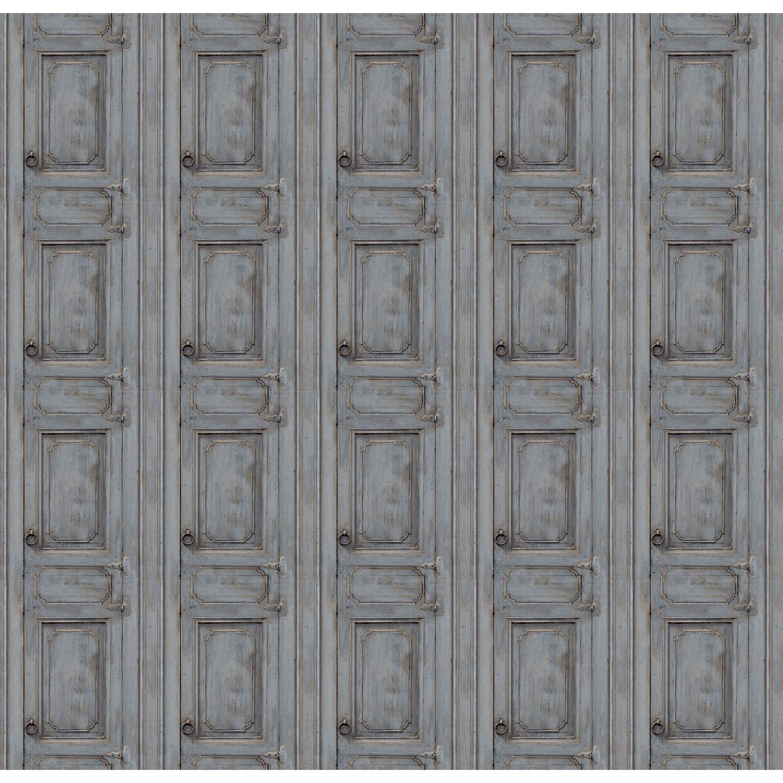 Papier Peint Trompe L Oeil Porte Placard papier peint porte meuble moulurée gris
