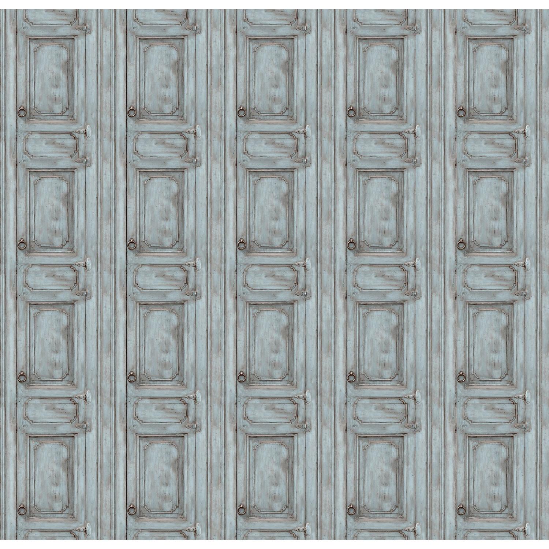 Papier Peint Trompe L Oeil Porte Placard papier peint porte meuble moulurée bleu grisé
