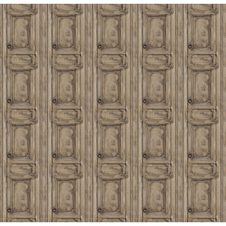 Papier Peint Trompe L Oeil Porte Placard papier peint porte meuble moulurée marron