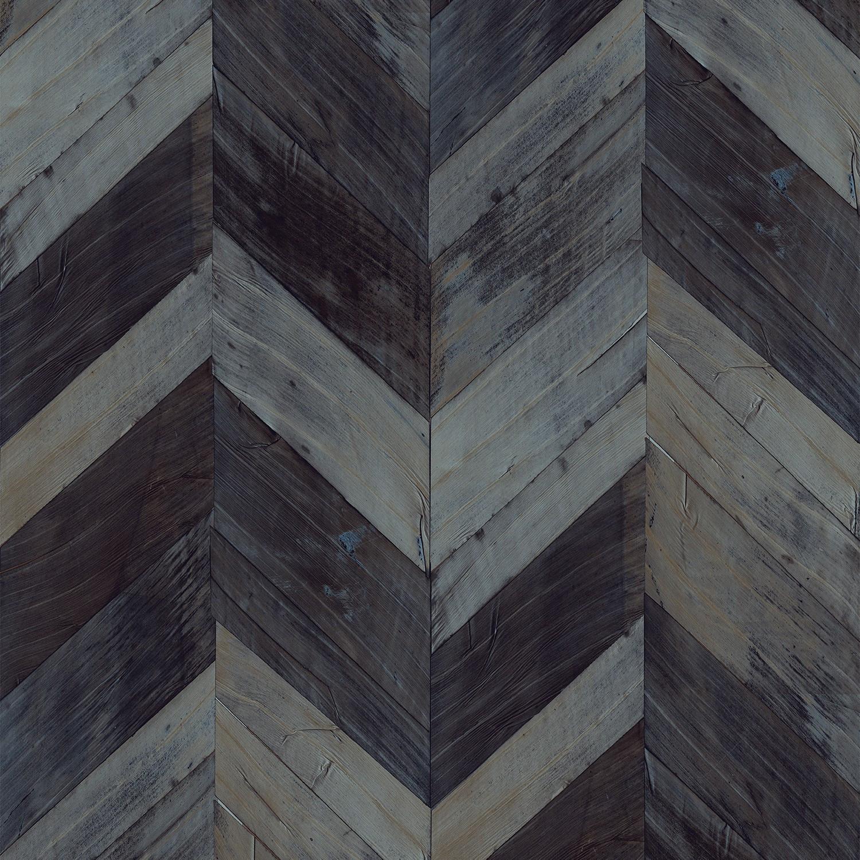 Dark Blue Gray Chevron Wallpaper