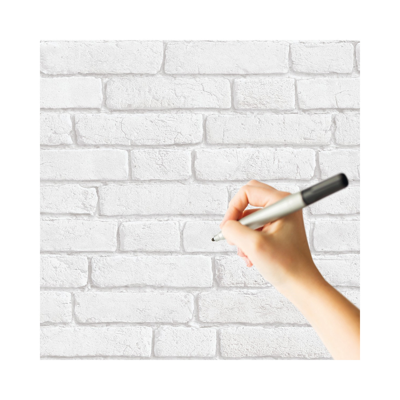 Mur Effet Brique Blanche papier peint effaçable briques blanches
