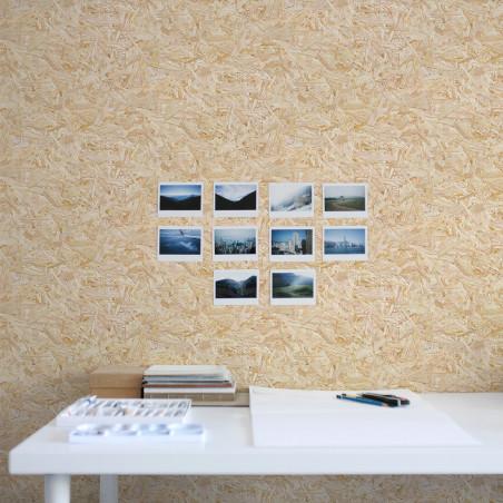 Oriented strand board wallpaper