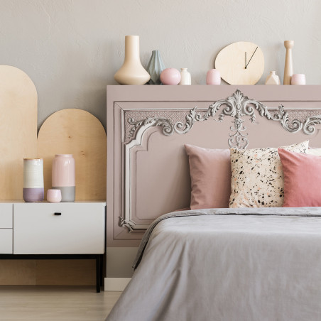 Light pink pastel Haussmann headboard velvet cover (1,85m)