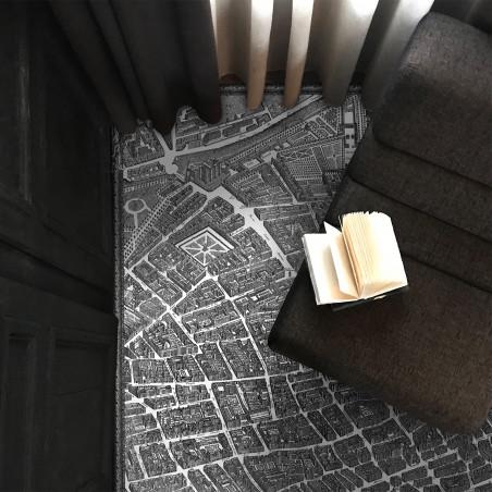 Tapis vinyle Plan de Paris XVIIème XL