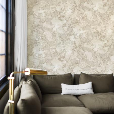 Light beige mottled wallpaper