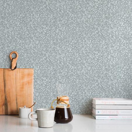 Papier peint Mosaïque grise