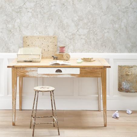 Stone marble wallpaper Off White