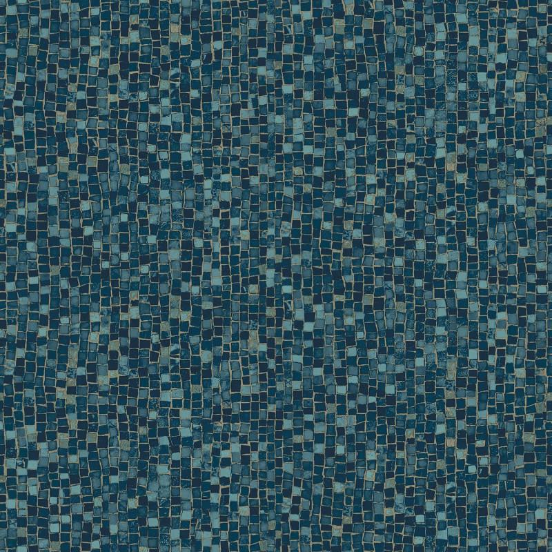 Papier peint Mosaïque bleu nuit