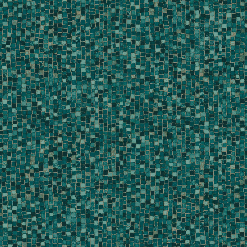 Turquoise mosaic wallpaper