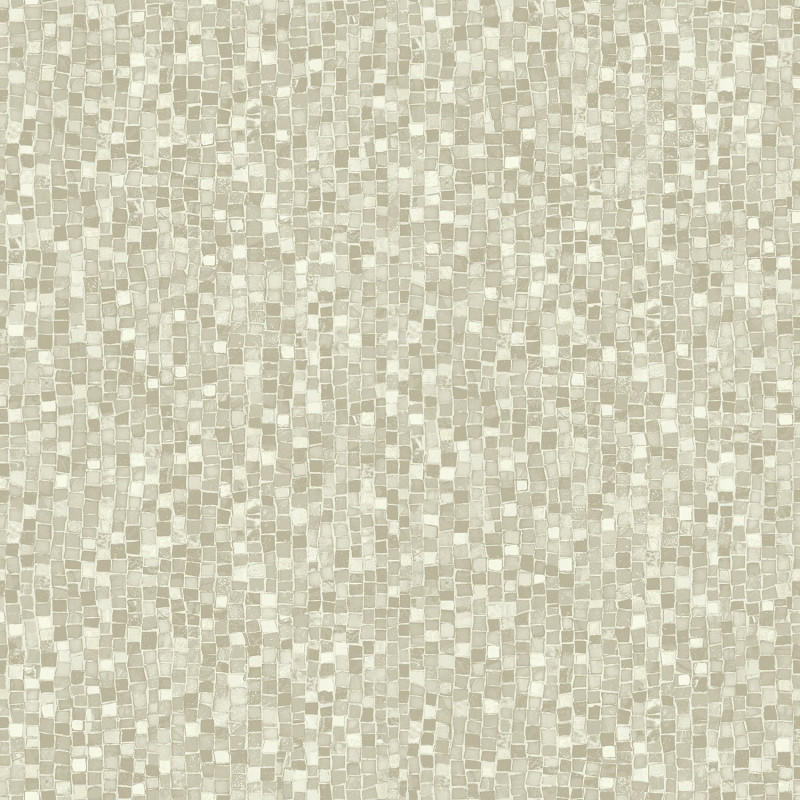 Beige mosaic wallpaper