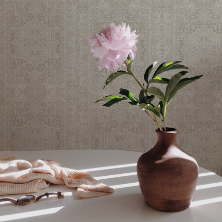 pale gray tapestry wallpaper