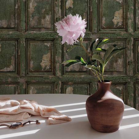 Papier peint Boiserie anglaise antique - Vert kaki