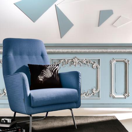 Light blue pastel velvet tapestry Haussmann wainscot