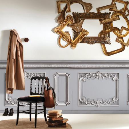 Light grey pastel Haussmann wainscot 141cm