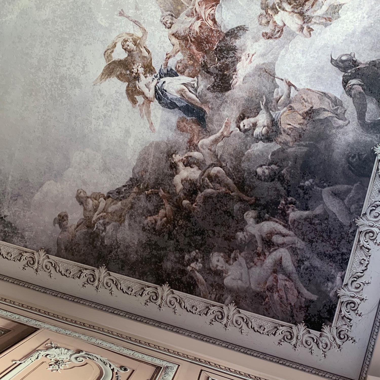 Fresco Great Value Inspire Typography Frames Grey Wallpaper