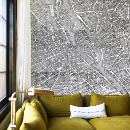 Papier peint panoramique plan de Turgot - zoom