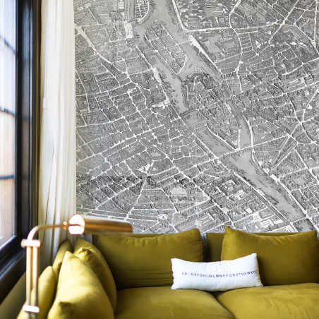 Turgot's map of Paris murals - zoom
