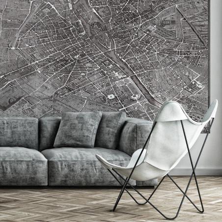 Papier peint panoramique plan de Turgot