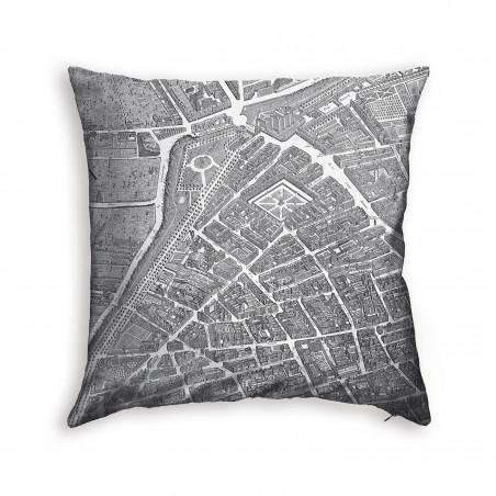 Turgot's map of Paris cushion 1