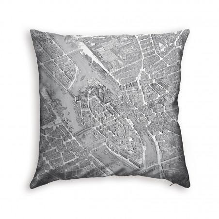 Turgot's map of Paris cushion 2
