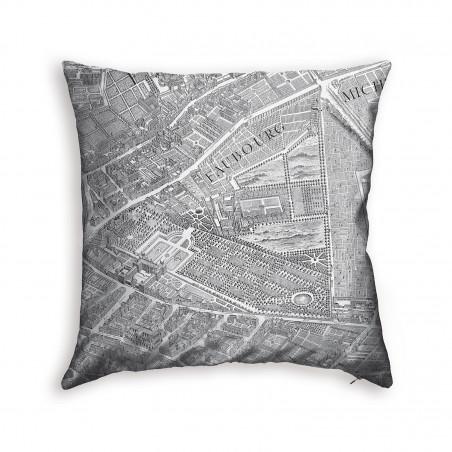 Turgot's map of Paris cushion 3
