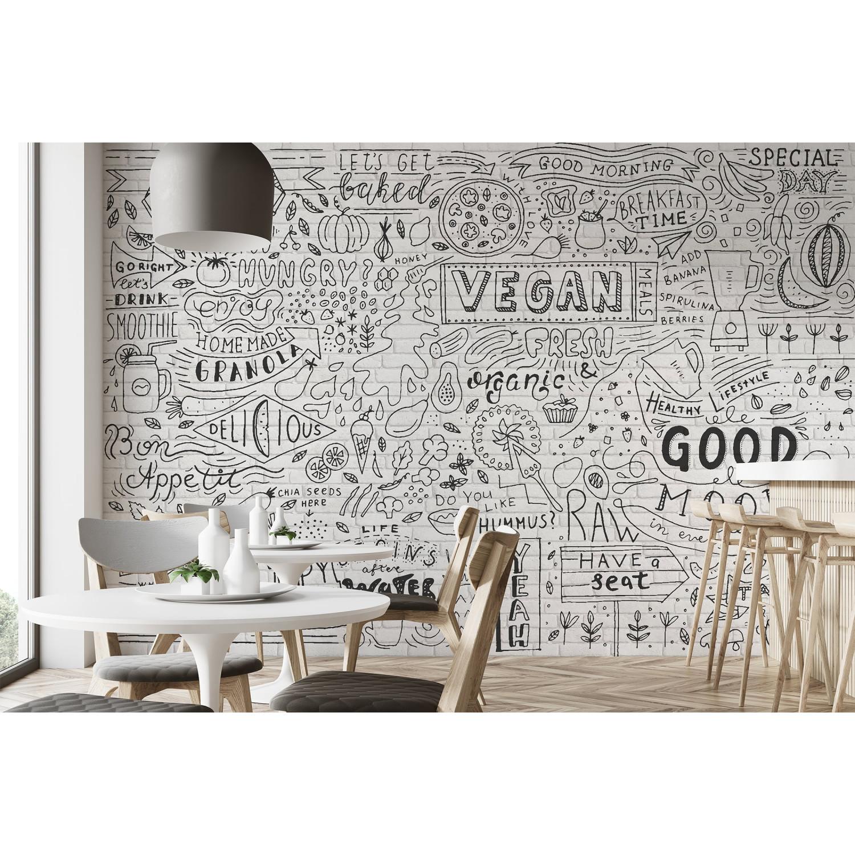 Papier Peint Trompe L Oeil Koziel papier peint effaçable briques blanches