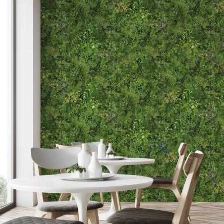 Papier peint panoramique mur végétal