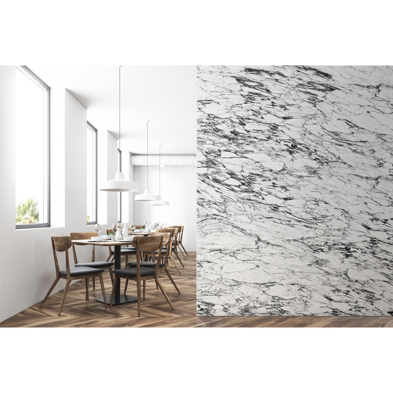 Papier Peint Panoramique Noir Et Blanc papier peint panoramique marbre arabescato blanc & noir