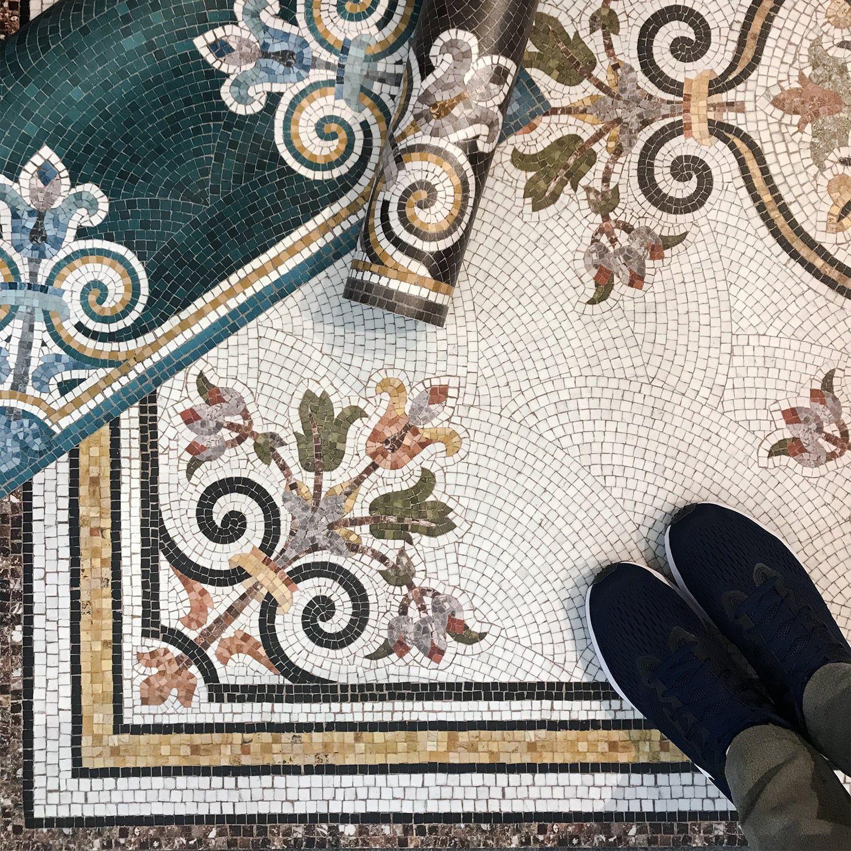 Tapis Imitation Carreaux De Ciment Vinyle tapis vinyle mosaïque erika