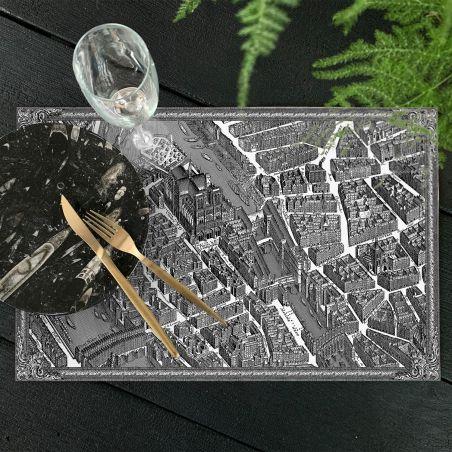 Set de table vinyle plan de Paris Turgot - Notre Dame
