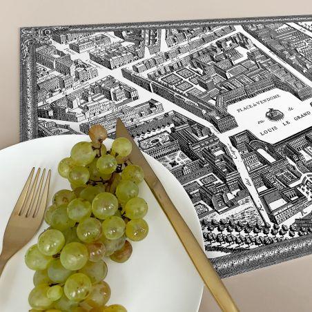 Set de table vinyle plan de Paris Turgot - Vendôme
