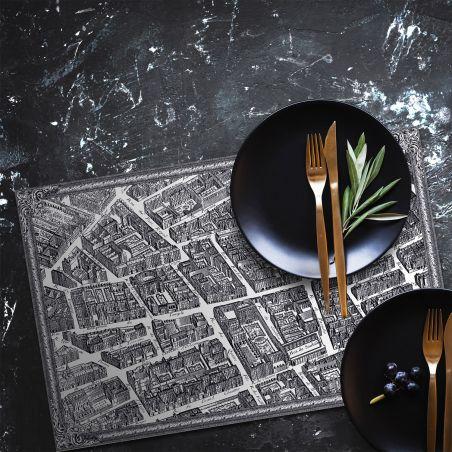Map of Paris vinyl placemats - Le Marais