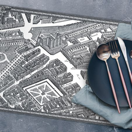 Set de table vinyle plan de Paris Turgot - La Bastille