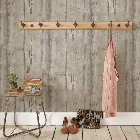 Brighten taupe wood wallpaper