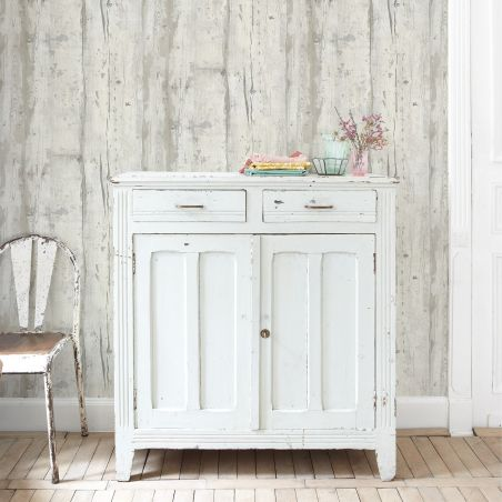Brighten white wood wallpaper