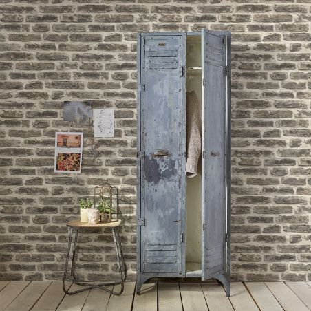 Urban brick wallpaper - dark gray