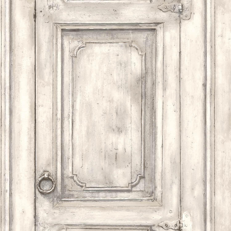 Papier Peint Trompe L Oeil Koziel papier peint porte meuble moulurée blanc cassé