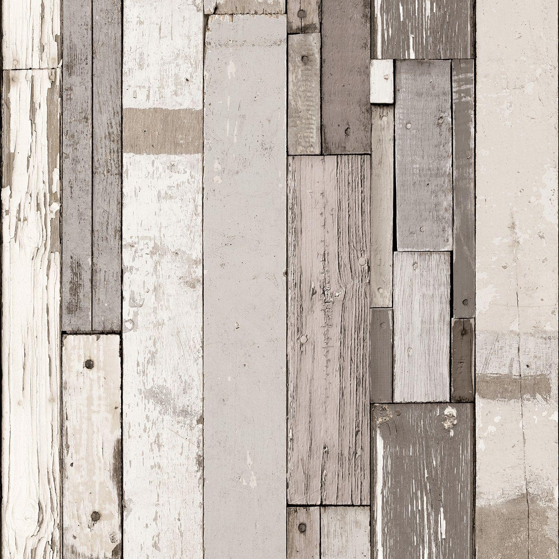 Papier Peint Bois De Palette Beige Et Gris