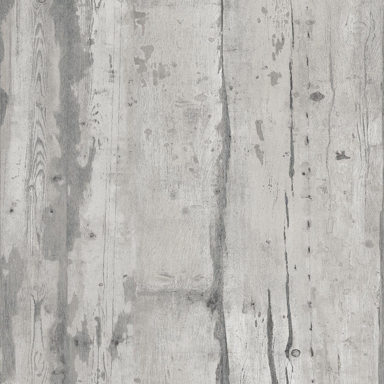 Papier Peint Bois Patiné Gris