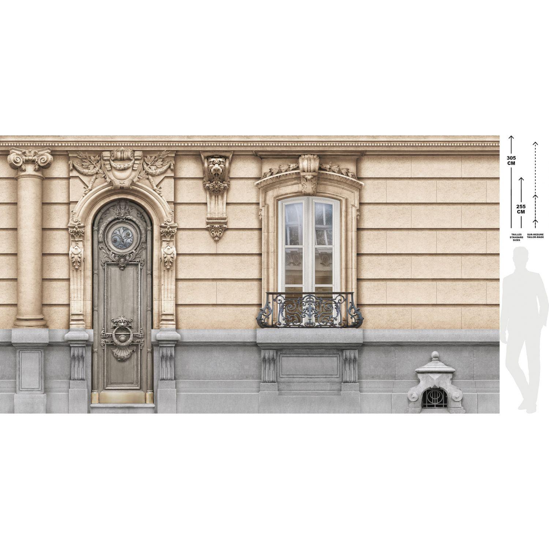 Décor Façade Haussmannienne Fenêtre Ouverte 138cm