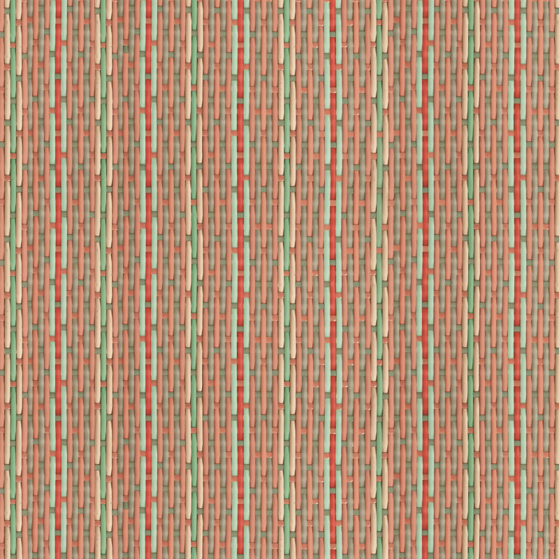 Philippe Model braided wallpaper with pink stripes