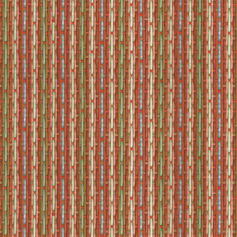 Philippe Model braided wallpaper with red and blue stripes